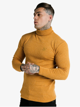 Sik Silk Longsleeves Rib Turtle Neck zólty