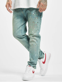 Sik Silk Loose fit jeans Steve Aoki Riot Loose Fit blauw