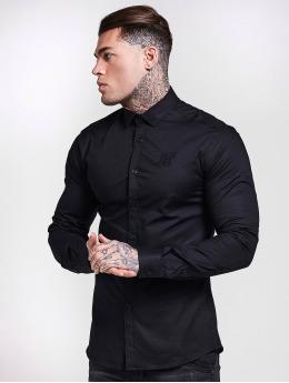 Sik Silk overhemd Cotton Stretch zwart