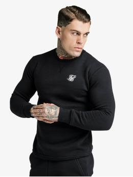 Sik Silk Pullover Crew  schwarz