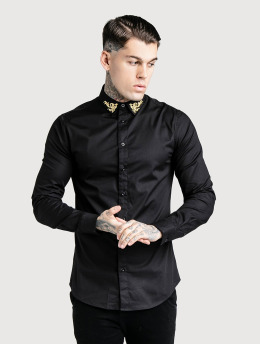 Sik Silk Shirt Muscle Fit black