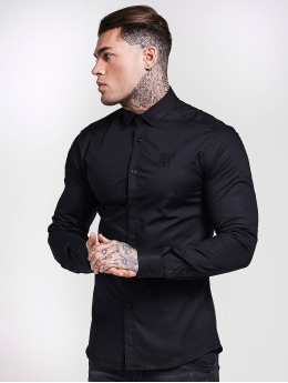 Sik Silk Shirt Cotton Stretch black