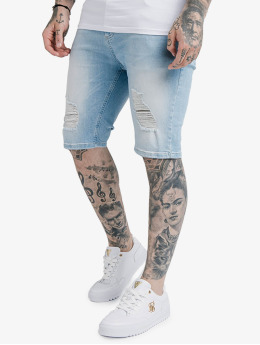 Sik Silk Shorts Distressed Denim blau