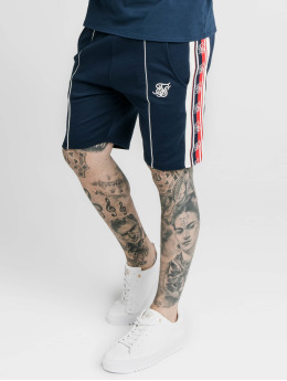 Sik Silk shorts Retro Tape Relaxed Fit blauw