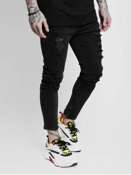 Sik Silk Skinny Jeans Vintage Plus čern