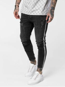 Sik Silk Skinny Jeans Low Rise Denims čern