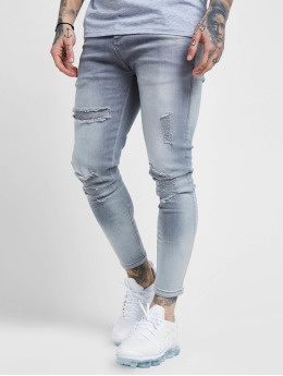 Sik Silk Skinny Jeans Distressed  šedá