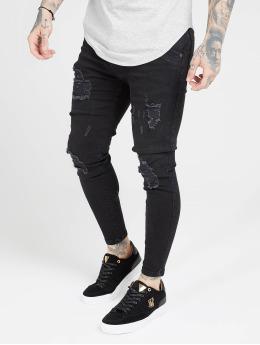 Sik Silk Skinny Jeans Distressed  black
