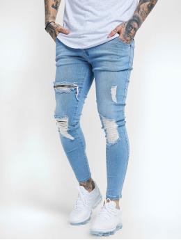 Sik Silk Skinny Jeans Distressed  blau