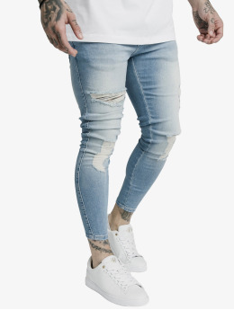 Sik Silk Skinny Jeans Distresed  blau