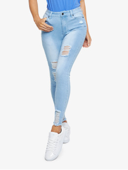 Sik Silk Skinny Jeans Distressed  blau