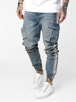 Sik Silk Skinny Jeans Cargo niebieski