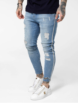 Sik Silk Skinny Jeans Low Rise niebieski