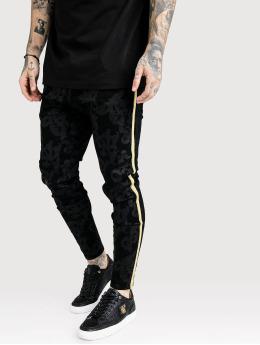 Sik Silk Skinny Jeans Low Rise schwarz