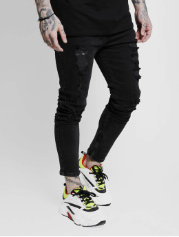 Sik Silk Skinny Jeans Vintage Plus schwarz