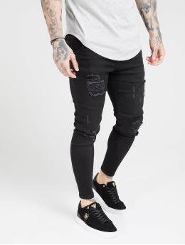 Sik Silk Skinny jeans Distresed  zwart