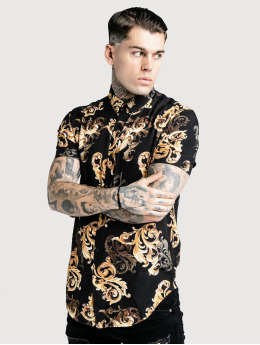 Sik Silk Skjorta High Collar Resort svart