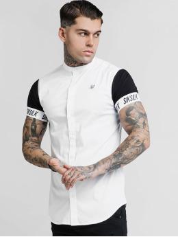 Sik Silk Skjorte Grandad Collar Tech hvid