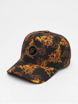 Sik Silk Snapback Cap Bent Peak black