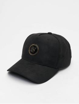 Sik Silk Snapback Caps Bent Peak musta