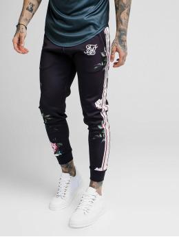 Sik Silk Spodnie do joggingu Oil Paint Cuffed Cropped Poly czarny