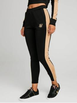 Sik Silk Spodnie do joggingu Satin Panel  czarny