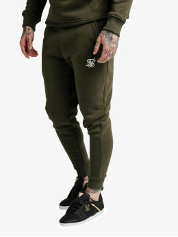 Sik Silk Spodnie do joggingu Muscle Fit khaki