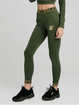 Sik Silk Spodnie do joggingu Taped  zielony
