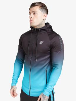 Sik Silk Sweat capuche zippé Athlete Hybrid Zip Through noir