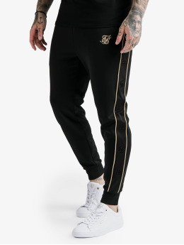 Sik Silk Sweat Pant Astro Cuffed black