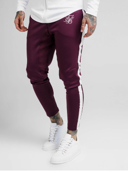 Sik Silk Sweat Pant Athlete Tape red