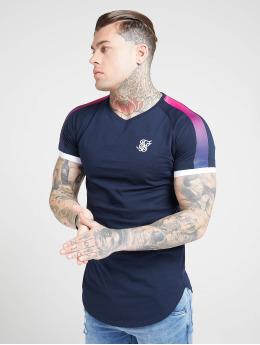 Sik Silk T-shirt Inset Cuff Fade Panel Tech blå