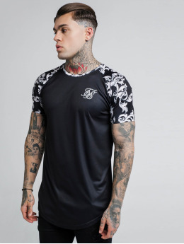 Sik Silk T-Shirt Silvern Venetian Raglan black
