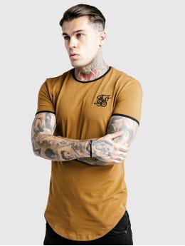 Sik Silk T-Shirt Ringer Gym brun