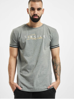 Sik Silk t-shirt Signature  grijs