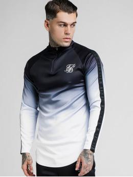 Sik Silk T-Shirt manches longues Athlete Half Zip Training noir