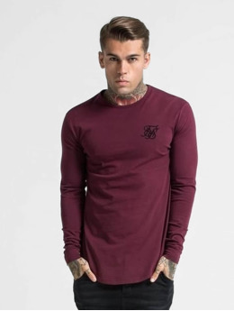 Sik Silk T-Shirt manches longues Gym  rouge