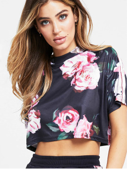 Sik Silk T-Shirt Retro Box Crop multicolore