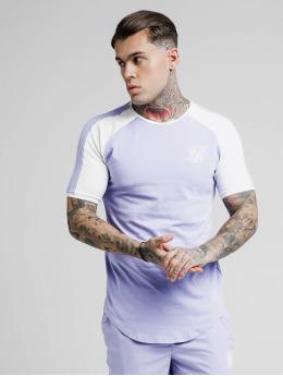 Sik Silk t-shirt Raglan Contrast Ringer Gym paars