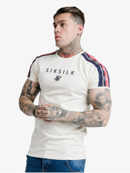 Sik Silk T-Shirty S/S Raglan Retro Tape Gym bialy