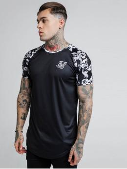 Sik Silk T-Shirty Silvern Venetian Raglan czarny