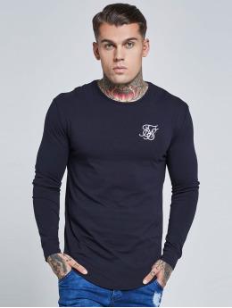 Sik Silk T-Shirty Long Sleeve Gym niebieski