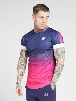 Sik Silk T-skjorter Fade Panel Tech blå