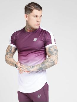 Sik Silk T-skjorter Fade Tech lilla