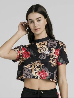 Sik Silk Topy/Tielka Floral Elegance Crop èierna