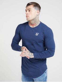 Sik Silk Tričká dlhý rukáv Core Gym modrá