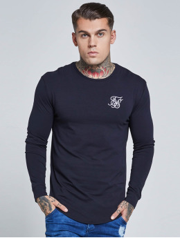 Sik Silk Trika Long Sleeve Gym modrý