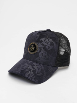 Sik Silk Trucker Caps Mesh Back modrý
