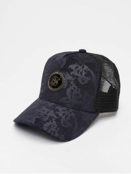 Sik Silk Trucker Caps Mesh Back modrý