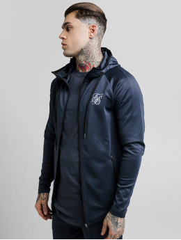 Sik Silk Zip Hoodie Reflective Sprint Racer Through grå